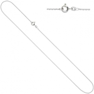 Ankerkette 585 Weißgold 1, 3 mm 42 cm Gold Kette Halskette Federring