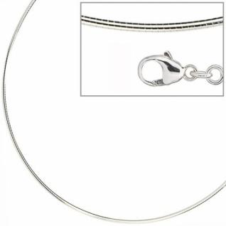 Halsreif 925 Sterling Silber 1, 2 mm 42 cm Halskette Silberhalsreif