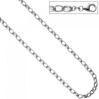 Rund-Ankerkette 925 Silber 6, 2 mm 45 cm Halskette Kette Silberkette Karabiner