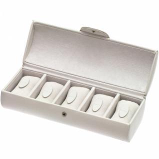 Davidt's Uhrenkoffer Uhrenkasten Uhrenbox weiß für 5 Uhren