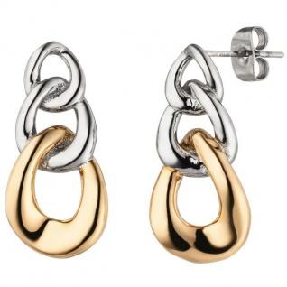 Ohrhänger Edelstahl mit rotgoldfarbener PVD-Beschichtung Ohrringe