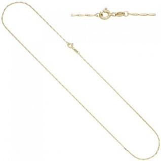Haferkornkette 585 Gelbgold 1, 2 mm 50 cm Kette Halskette Goldkette
