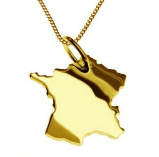 FRANKREICH Kettenanhänger aus massiv 585 Gelbgold mit Halskette