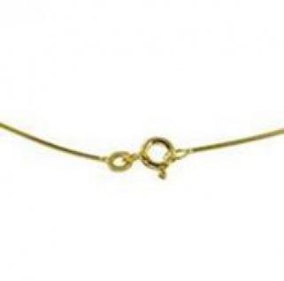 42 cm Omega Halsreif - 585 Gelbgold - 0, 8 mm Halskette