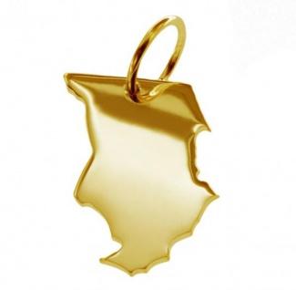 TSCHAD Kettenanhänger aus massiv 585 Gold