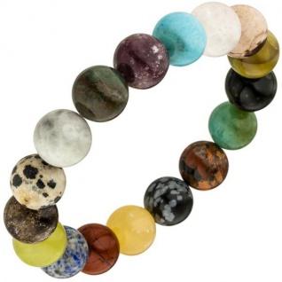 Armband mit Edelsteinen multicolor 19 cm Edelsteinarmband elastisch