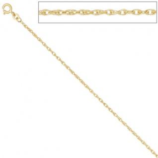 Doppelankerkette 333 Gelbgold 1, 9 mm 42 cm Halskette Kette Federring