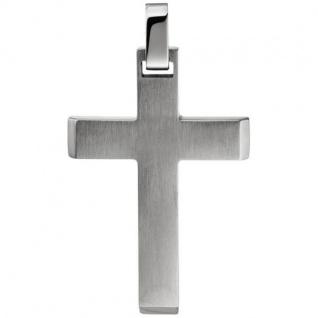 Anhänger Kettenanhänger Kreuz aus Edelstahl mattiert Kreuzanhänger