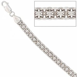 Armband 925 Sterling Silber rhodiniert 19 cm Karabiner 6, 1 mm breit