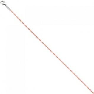Rundankerkette Edelstahl rosa lackiert 42 cm Kette Halskette Karabiner