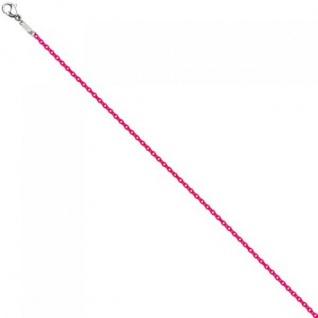 Rundankerkette Edelstahl pink lackiert 45 cm Kette Halskette Karabiner