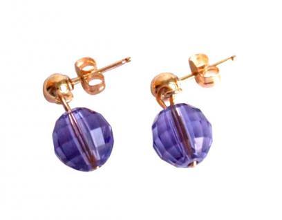 Ohrringe Blau Violett Vergoldet MADE WITH SWAROVSKI ELEMENTS®