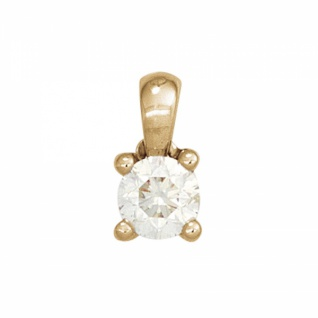 Anhänger 585 Gold Gelbgold 1 Diamant Brillant 0, 15 ct.