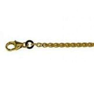 19 cm Zopfkette Armband - 585 Gelbgold - 3 mm