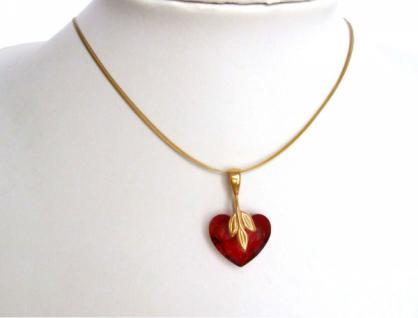Herz Halskette Anhänger Vergoldet WITH SWAROVSKI ELEMENTS®