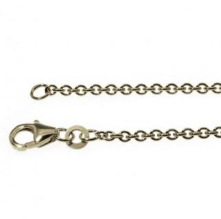 50 cm Rundankerkette - 333 Weißgold - 2 mm Halskette