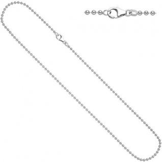 Kugelkette 925 Sterling Silber rhodiniert 1, 4 mm 45 cm Halskette