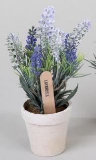 formano Kunstblume Lavendel im Übertopf, 28 cm