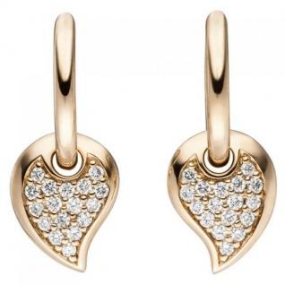 Creolen 585 Rotgold 34 Diamanten Brillanten Ohrringe