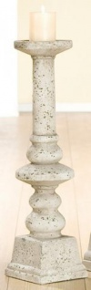 GILDE Kerzenleuchter Empire Grau Antik mit Zementoptik, 61 x 15, 5 cm