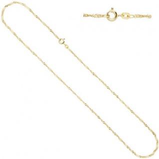 Singapurkette 585 Gelbgold 1, 8 mm 42 cm Halskette Federring