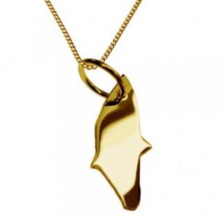 RHODOS Kettenanhänger aus massiv 585 Gelbgold mit Halskette