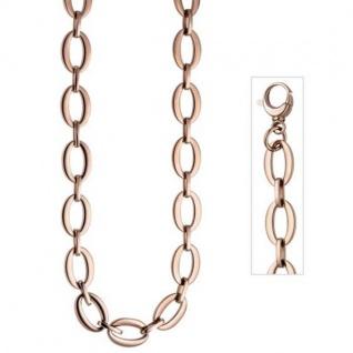 Collier Halskette aus Edelstahl rotgold farben beschichtet 47 cm Kette