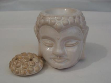 Duftlampe Buddha-Kopf aus Keramik