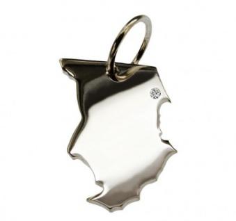 TSCHAD Kettenanhänger aus 925 Silber mit Brillant am Wunschort