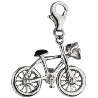 Einhänger Charm Fahrrad 925 Sterling Silber