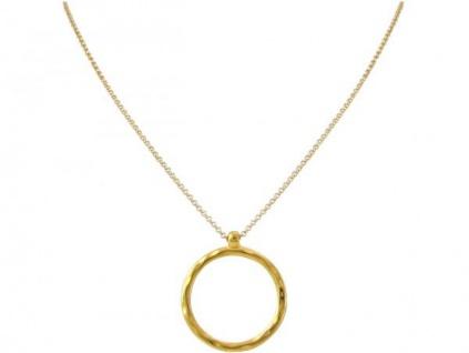 Halskette Anhänger Eternity Kreis Minimalistisch Design Gold 45 cm