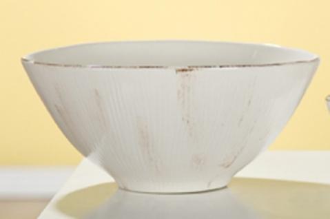 GILDE Deko Schale Rigato, creme braun glasiert, 10 x 21 cm