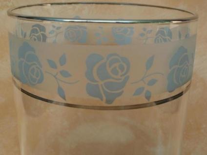 Windlicht mit Rosendekor, 17 cm hoch - Vorschau 3