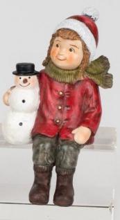 formano Dekofigur Winterkind Irene als Kantensitzer in Rot, 14 cm