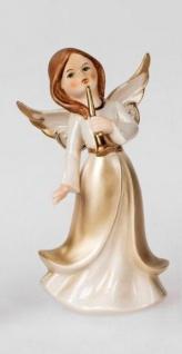 formano Engel Figur in Champagner und Gold aus Porzellan, 17 cm