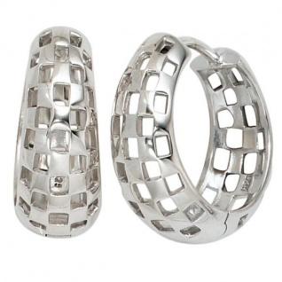 Creolen 925 Sterling Silber rhodiniert Ohrringe 7, 1 mm breit
