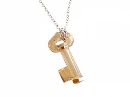 Halskette Schlüssel-SWAROVSKI ELEMENTS®-Massiv 925 Silber