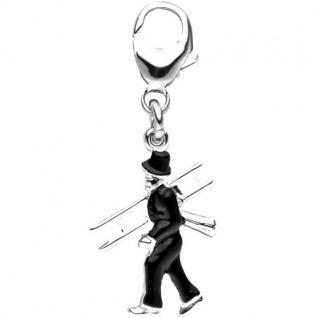 Einhänger Schornsteinfeger 925 Sterling Silber Anhänger für Bettelarmband
