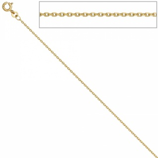 Ankerkette 333 Gelbgold 1, 2 mm 42 cm Gold Kette Halskette Federring