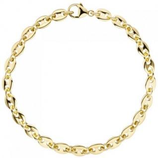Armband Kaffeebohne 585 Gelbgold 21 cm Goldarmband
