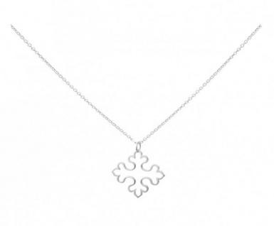 Gemshine Damen Halskette Anhänger Kreuz 925 Silber 3 cm