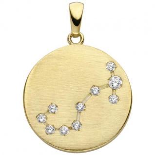 Anhänger Sternzeichen Skorpion 333 Gold Gelbgold matt 10 Zirkonia