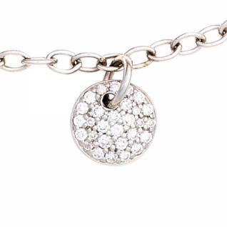 Armband 585 Weißgold 29 Diamanten Brillanten 0, 34ct. 18, 5 cm Karabiner