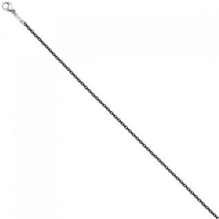 Rundankerkette Edelstahl grau lackiert 42 cm Kette Halskette Karabiner