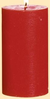 GILDE Stumpenkerze in Rot, 67 Stunden, 6, 8 x 12, 5 cm