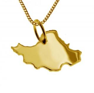 IRAN Kettenanhänger aus massiv 585 Gelbgold mit Halskette