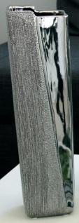 GILDE Moderne Vase aus Keramik, silber, 30 cm
