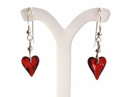 Herz Ohrringe Silber Wild Heart Rot MADE WITH SWAROVSKI ELEMENTS®