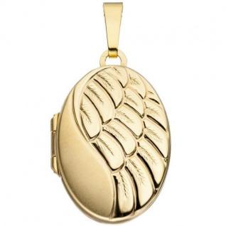 Medaillon 333 Gelbgold teilmattiert - Vorschau 1