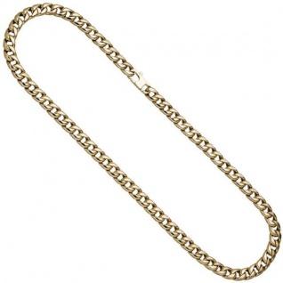 Panzerkette 585 Gelbgold 50 cm Kette Halskette Goldkette Karabiner